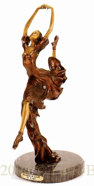 Ballerina in Flight bronze by Icart