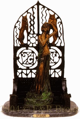 Gates of Promise bronze statue by Chiparus