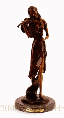 Lady With Violin bronze statue by Chiparus