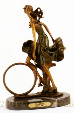 Playtime bronze statue by Louis Justin Icart