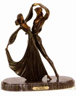 Tango bronze sculpture by Chiparus
