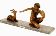 Deco with Fawn bronze statue by Chiparus