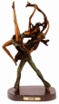 Dancers bronze sculpture by Icart