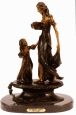 Mother and Child bronze statue by Icart