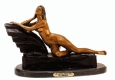 Reclining Nude bronze statue by Chiparus