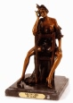 Salon Girl bronze statue by Icart