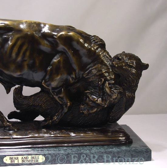 Bear And Bull Bronze Statue By Bonheur