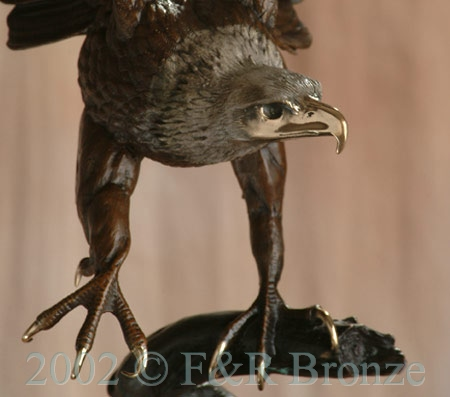 Museum Eagle by Moigniez bronze statue-1