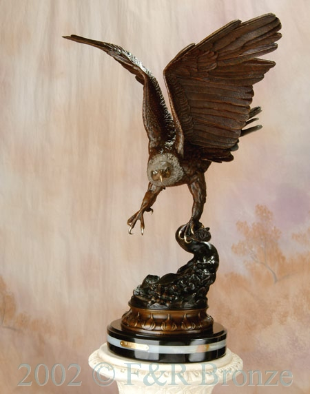 Museum Eagle by Moigniez bronze statue-9