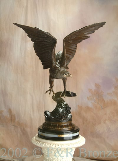 Museum Eagle by Moigniez bronze statue-10