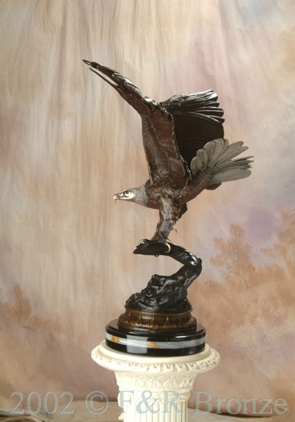 Museum Eagle by Moigniez bronze statue-11