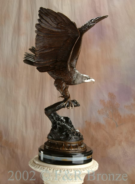 Museum Eagle by Moigniez bronze statue-4