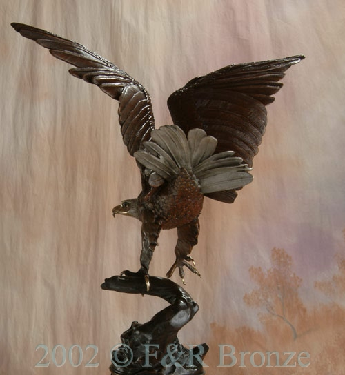 Museum Eagle by Moigniez bronze statue-5