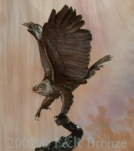 Museum Eagle by Moigniez bronze statue-6
