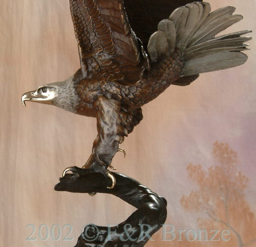 Museum Eagle by Moigniez bronze statue-8