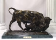 Bear and Bull bronze by Bonheur