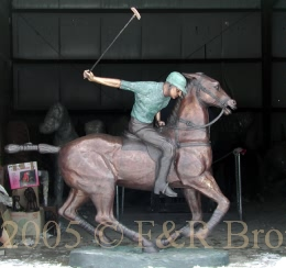 Polo Player bronze sculpture