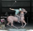 Polo Player bronze statue