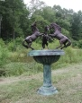 Three Rearing Stallions Bronze Sculpture Fountain