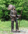 Indian Chief with Spear bronze
