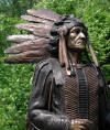 Indian Chief with Spear bronze reproduction