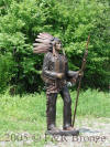Life Size Indian Chief with Spear bronze statue