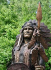 Indian Chief with Spear bronze statue