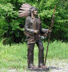 Life Size Indian Chief with Spear bronze sculpture
