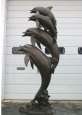 Five Jumping Dolphins bronze reproduction fountain