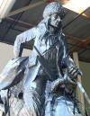 Heroic Mountain Man bronze by Remington