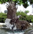 Side Eagle with Fish bronze statue