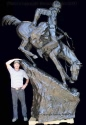 Heroic Mountain Man bronze reproduction