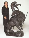 Monumental Buffalo Horse bronze sculpture