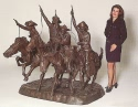 Heroic Coming Thru The Rye bronze reproduction