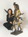 Jumbo Indian Dancer bronze sculpture