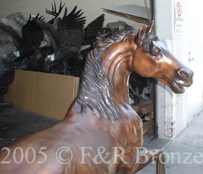 Monumental Stallion Bronze statue by Mene