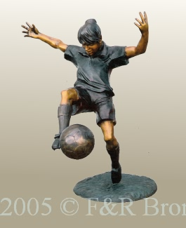 Soccer Girl Bronz Statue by Turner