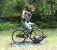 Child on bike Bronze Statue