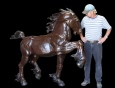 Prideful Stallion bronze statue