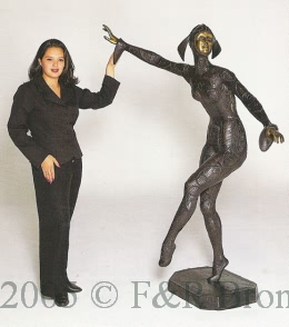 Life Size Solo bronze statue by Chiparus