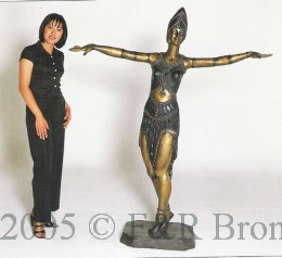 Semiramis with no cape bronze sculpture by Chiparus