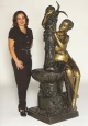 Bronze Nude Girl Fountain by Auguste Moreau