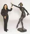 Life Size Solo bronze by Chiparus