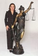 Blind Justice Bronze by Mayer