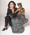 Mermaid on Rock bronze fountain by Falconet