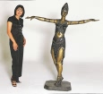 Semiramis (no cape) bronze sculpture by Chiparus