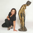 Life Size Nude Girl bronze statue by Falconet