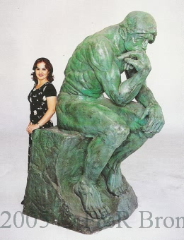 Life Size Thinker bronze statue by Auguste Rodin