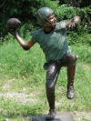 Boy Throwing Football bronze sculpture