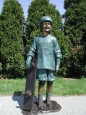 Boy with Skateboard bronze sculpture